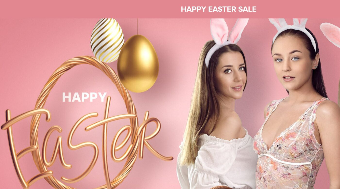 VTB Easter 2021 Happy Easter two girls