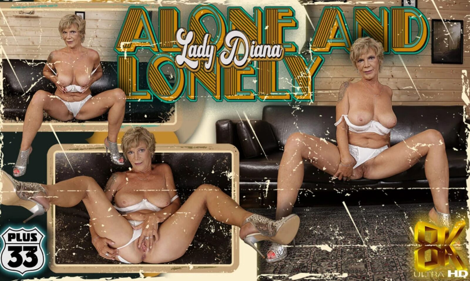 Plus33 - Alone and Lonely - Lady Diana poster 8K granny porn